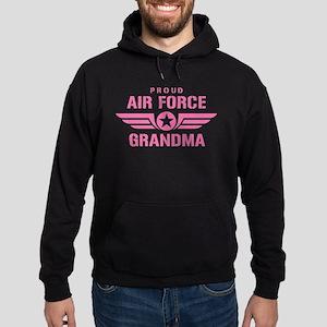 Proud Air Force Grandma W [pink] Hoodie (dark)